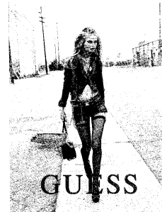 Guess ad from Glamour magazine: Sept. 2009