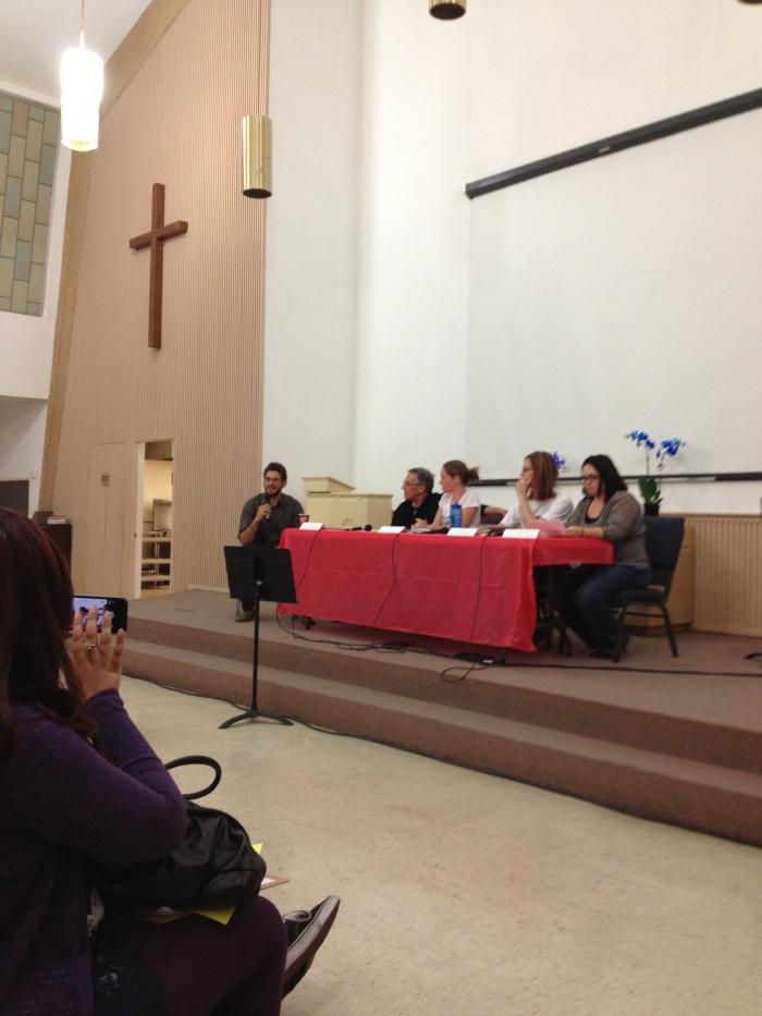 Panelists: Howard Watts, Rev. Greg Davis, Erin Davies, Jane Heenan, and Christina Hernandez