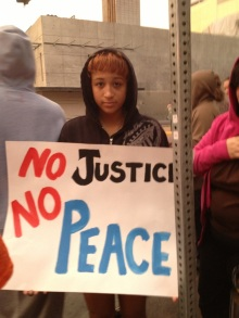 Maleena Mclean, 17, daughter of Trayvon Martin justice march organizer. July 16, 2013