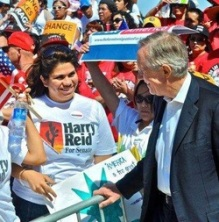 Astrid Silva and Harry Reid, 2010