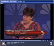 Annette Magnus, executive director of ProgressNow Nevada, talks about sex ed on Ralston Reports, Dec. 20, 2013.